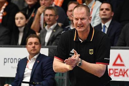 Soll Deutschlands Basketballer noch Tokio führen: Bundestrainer Henrik Rödl. Foto: Carmen Jaspersen/dpa