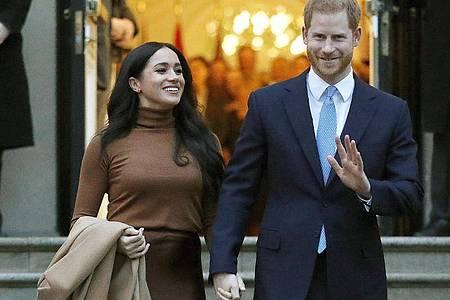Der britische Prinzen Harry und seine Frau, Herzogin Meghan Angang Januar inLondon. Foto: Frank Augstein/AP/dpa