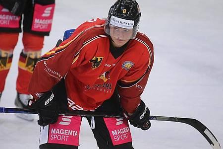 Könnte ein kommender NHL-Star werden: Tim Stützle. Foto: Karl-Josef Hildenbrand/dpa