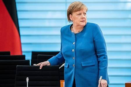 Bundeskanzlerin Angela Merkel richtet sich in einer Fernsehansprache direkt an die Bevölkerung. Foto: Michael Kappeler/dpa-pool/dpa