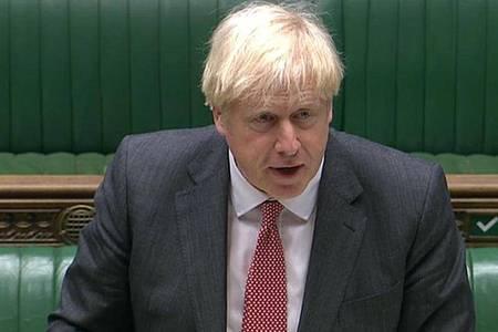 Boris Johnson spricht während einer Debatte im Unterhaus. Foto: -/House Of Commons/PA Wire/dpa