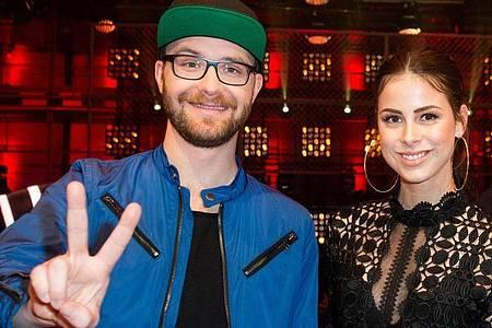 Der Sänger und Songwriter Mark Forster und die Sängerin Lena Meyer-Landrut mögen, was sie tun. Foto: picture alliance / dpa
