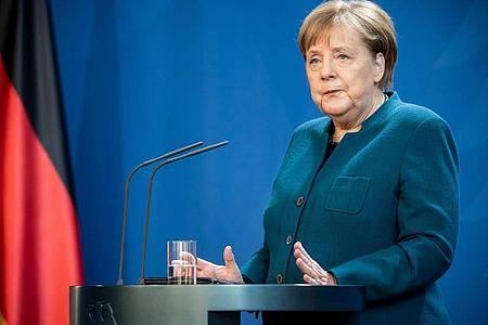 Am Sonntagabend hatte Bundeskanzlerin Merkel noch eine Pressekonferenz abgehalten. Foto: Michael Kappeler/dpa-pool/dpa