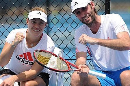 Angelique Kerber (l) wird wieder mit ihrem ehemaligen Trainer Torben Beltz zusammenarbeiten. Foto: Matt Roberts/AAP/dpa
