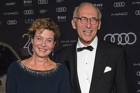 Margarita Broich und Dirk Schmalenbach 2019 bei der Operngala für die Deutsche Aids-Stiftung. Foto: Jörg Carstensen/dpa