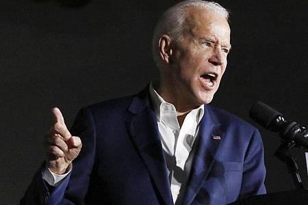 Joe Biden, ehemaliger US-Vizepräsident und Bewerber um die Präsidentschaftskandidatur der Demokraten. Foto: Rogelio V. Solis/AP/dpa