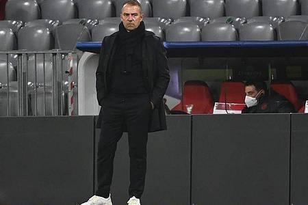 Bayern-Trainer Hansi Flick kann mit dem frühzeitigen Achtelfinal-Einzug sehr zufrieden sein. Foto: Sven Hoppe/dpa