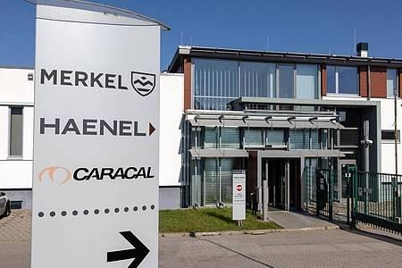 Sitz des Waffenhersteller C.G. Haenel im thüringischen Suhl. Foto: Michael Reichel/dpa-Zentralbild/dpa