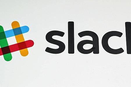 Das Slack-Logo, aufgenommen im Hauptquartier des Unternehmens in San Francisco. Foto: Christoph Dernbach/dpa