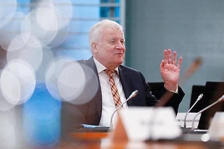 Bundesinnenminister Horst Seehofer (CSU)vor Beginn der wöchentlichen Kabinettssitzung. Foto: Fabrizio Bensch/Reuters Pool/dpa