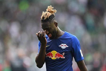 Streitfall: Der mittlerweile für Leeds United gewechselte Ex-Leipziger Jean-Kevin Augustin. Foto: Carmen Jaspersen/dpa