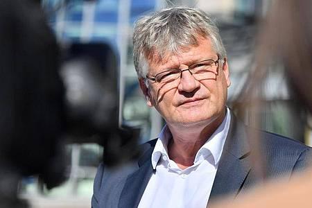 Der Bundessprecher der AfD Jörg Meuthen vor Beginn einer AfD-Bundesvorstandssitzung. Foto: Martin Schutt/dpa-Zentralbild/dpa