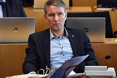 Thüringens AfD-Fraktionschef Björn Höcke Anfang März im Landtag in Erfurt. Foto: Martin Schutt/dpa-Zentralbild/dpa