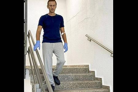 Der russische Oppositionsführer Alexej Nawalny ist aus der stationären Behandlung entlassen worden. Foto: Uncredited/Navalny Instagram/AP/dpa