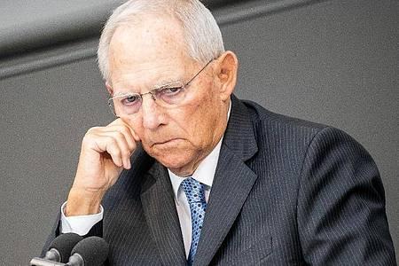 Bundestagspräsident Wolfgang Schäuble. Foto: Michael Kappeler/dpa