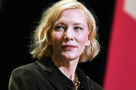 Cate Blanchett taucht in die Welt von «Borderlands» ein. Foto: Jens Kalaene/dpa-Zentralbild/dpa