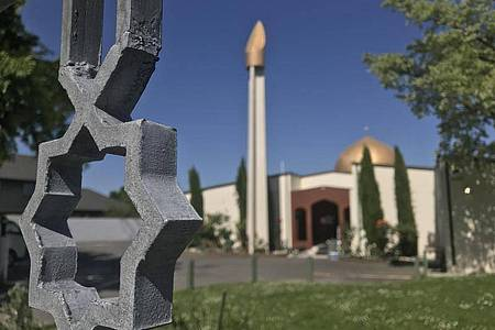 Die Al-Nur-Moschee in Christchurch. Am 15. März 2019 hatte der Attentäter in zwei Moscheen 51 Menschen getötet und Dutzende weitere verletzt. Foto: Christoph Sator/dpa