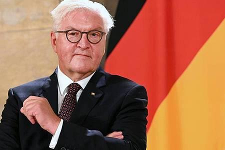 Bundespräsident Frank-Walter Steinmeier: «Es gibt Licht am Ende des Tunnels - allerdings wissen wir nicht, wie lang die Wegstrecke dahin noch ist.». Foto: Barbara Gindl/APA/dpa