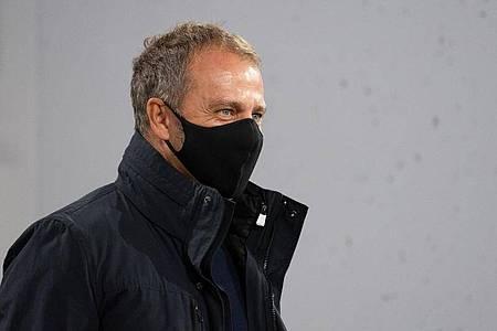 Muss beim Königsklassen-Auftakt auf Serge Gnabry verzichten:Bayern-Coach Hansi Flick. Foto: Sven Hoppe/dpa-Pool/dpa