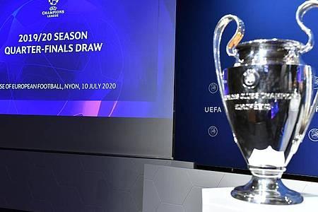 Die Viertelfinal-Begegnungen der Champions League wurden in Nyon ausgelost. Foto: Harold Cunningham/UEFA via Getty Images/dpa