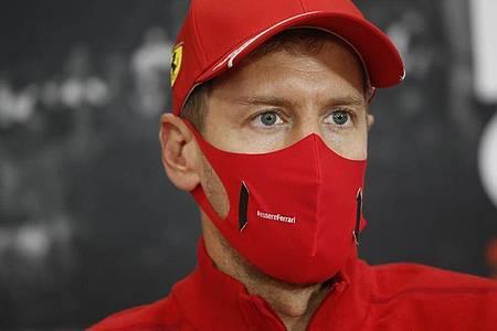 Gehört beim Ferrari-Heimrennen nicht zum Favoritenkreis: Sebastian Vettel. Foto: Florent Gooden/DPPI Media POOL/AP/dpa
