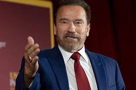 Der stolze Großpapa:Arnold Schwarzenegger. Foto: Paul Bersebach/Orange County Register via ZUMA/dpa