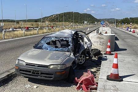 Die Unfallstelle nahe der Stadt Alexandroupolis. Foto: e-evros.gr/AP