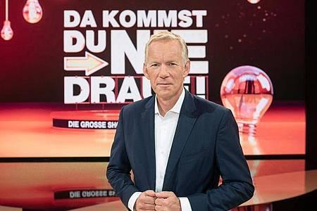 Seit drei Jahren gibt es die Quizshow «Da kommst Du nie drauf!». Moderator ist Johannes B. Kerner. Foto: ZDF/Frank W. Hempel/dpa