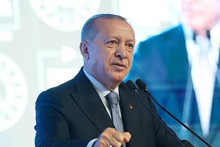 Der türkische Präsident Erdogan nennt die EU ein «einflussloses und oberflächliches Gebilde». Foto: -/Xinhua/dpa
