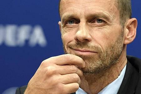 Die UEFA zieht laut Präsident Aleksander Ceferin eine dauerhafte Einführung von Finalturnieren in Erwägung. Foto: picture alliance / Laurent Gillieron/KEYSTONE/dpa