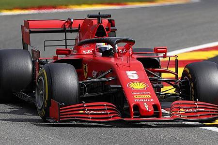 Fuhr beim letzten Training in Spa auf den letzten Platz:Ferrari-Pilot Sebastian Vettel. Foto: Francois Lenoir/POOL REUTERS/AP/dpa