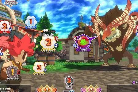 Im Mittelpunkt von «Little Town Hero» stehen die durchaus kniffligen Taktik-Kämpfe. Foto: Nintendo/dpa-tmn