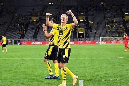 Erling Haaland sorgt in der Regel für die Dortmunder Tore. Foto: Bernd Thissen/dpa