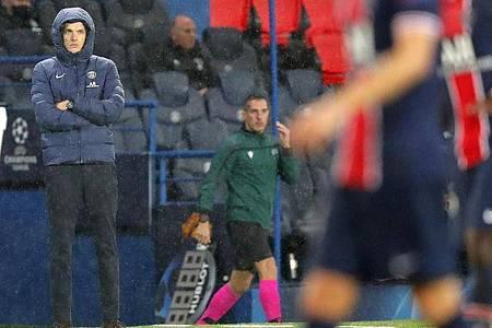 PSG-Cheftrainer Thomas Tuchel war mit der Leistung seiner Mannschaft nicht zufrieden. Foto: Michel Euler/AP/dpa