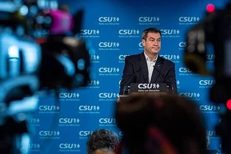 Hat seine Aussage, «Mein Platz ist in Bayern», wirklich bestand? CSU-Chef und bayrischer Ministerpräsident Markus Söder. Foto: Peter Kneffel/dpa