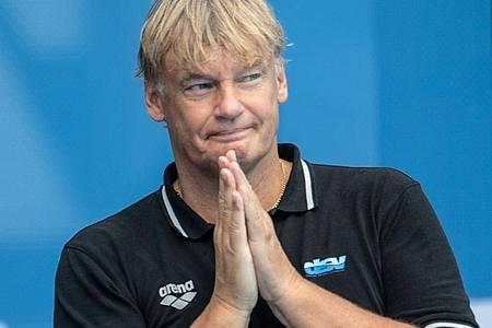 Hagen Stamm ist der Trainer der deutschen Wasserballer. Foto: Bernd Thissen/dpa