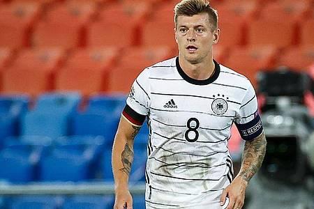 Toni Kroos hatte sich eine Gesäßverletzung zugezogen. Foto: Christian Charisius/dpa