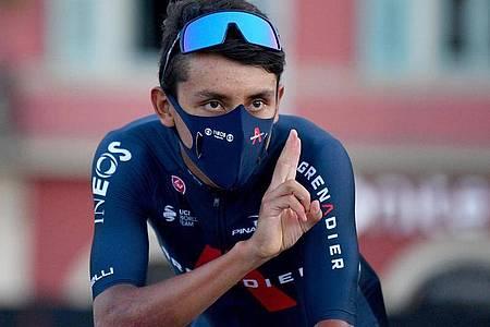 Geht als Titelverteidiger in die Tour de France:Egan Bernal aus Kolumbien vom Team Ineos. Foto: David Stockman/BELGA/dpa