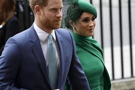 Prinz Harry und Herzogin Meghan im März. Foto: Kirsty Wigglesworth/AP/dpa