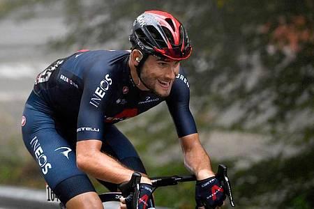 Filippo Ganna gewann beim diesjährigen Giro d?Italia seine zweite Etappe. Foto: Fabio Ferrari/LaPresse/AP/dpa