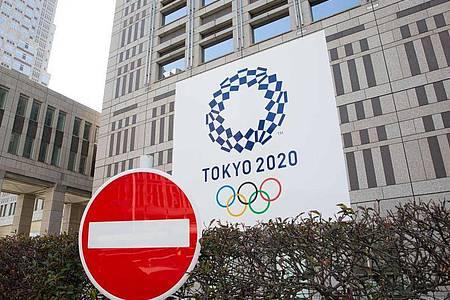 Werbung für die Olympischen Spiele 2020 in Tokio: Wegen der weltweiten Corona-Pandemie will Kanada keine Sportler zu den Olympischen Sommerspielen in Tokio schicken. Foto: Stanislav Kogiku/SOPA Images via ZUMA Wire/dpa