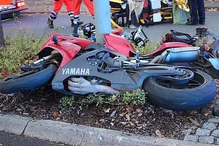 Bild vom beschädigten Motorrad