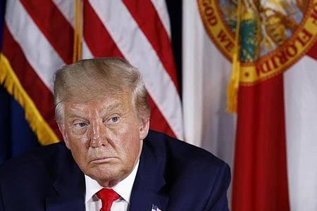 Donald Trump, Präsident der USA, will beim anstehenden Nominierungsparteitag Journalisten ausschließen. Foto: Patrick Semansky/AP/dpa