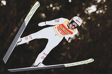 Österreichs Skispringer Stefan Kraft ist positiv auf das Coronavirus getestet worden. Foto: -/APA/EXPA/JFK/dpa