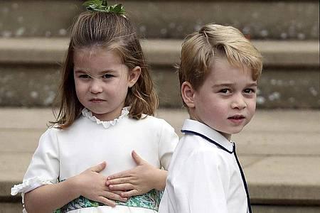 Prinzessin Charlotte ist zwei Jahre jünger als ihr Bruder Prinz George. Foto: Steve Parsons/PA Wire/dpa