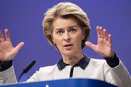EU-Kommissionspräsidentin Ursula von der Leyen will die Milliarden aus dem geplanten europäischen Wiederaufbaufonds mit Reformen verbinden. Foto: Lukasz Kobus/European Commission/dpa