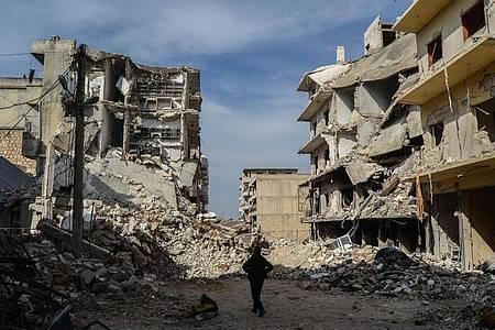 Der Beginn des Syrien-Kriegs hatte sich bereits zum 9. Mal gejährt. Foto: Moawia Atrash/ZUMA Wire/dpa