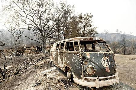 Die Feuerwehr in Kalifornien hat einige der zahlreichen Waldbrände im Griff. Foto: Noah Berger/AP/dpa