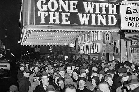 Premiere von «Vom Winde verweht» im New Yorker Astor-Theater. Foto: AP/dpa