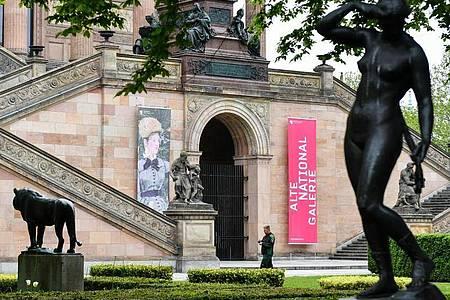 Die noch geschlossene Alte Nationalgalerie auf der Museumsinsel. Foto: Jens Kalaene/dpa-Zentralbild/dpa